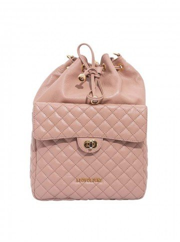 mochila rosa leopoldine luna frente