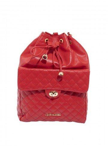 mochila vermelha leopoldine luna frente