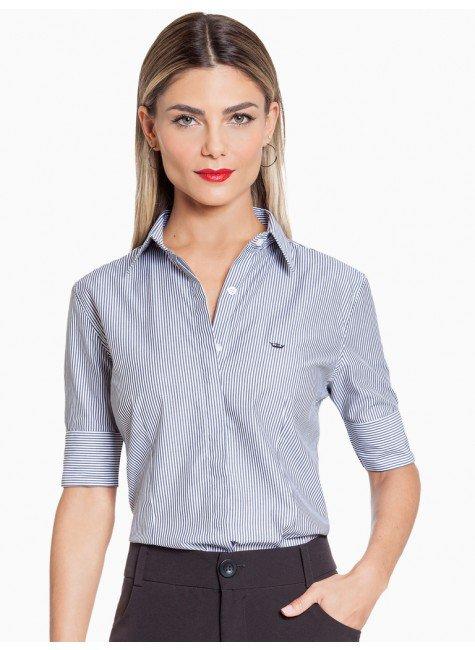 camisa social listrada principessa lorene frente