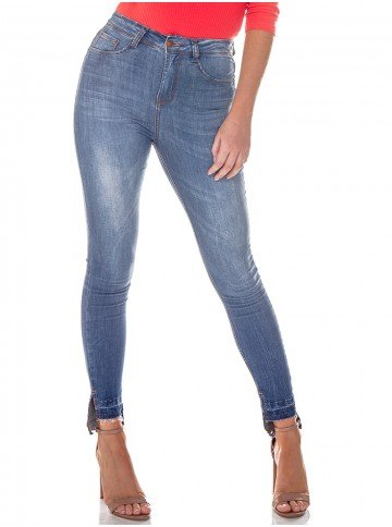 calca jeans barra mullet denim zero dz2713 frente