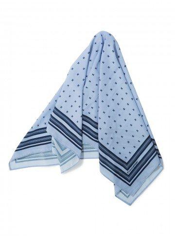 echarpe azul estampada principessa bea lenco