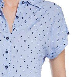 camisa azul claro principessa afrodite detalhes