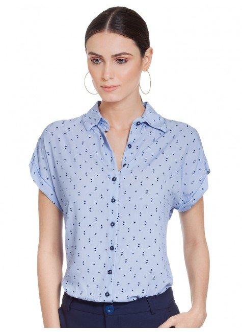 camisa azul claro principessa afrodite frente