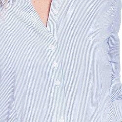 camisa social branca listrada principessa ellora DETALHES