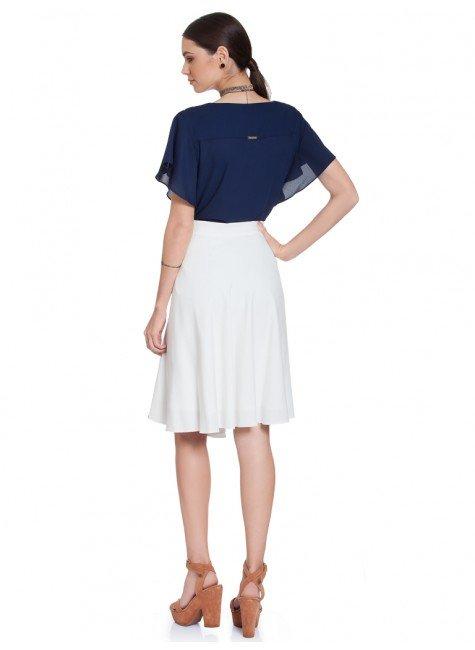 ... frente total  blusa feminina marinho principessa mandy costas total 6181791a96d