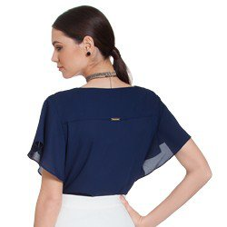 blusa feminina marinho principessa mandy modelagem