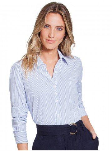 camisa listrada azul principessa ellora frente