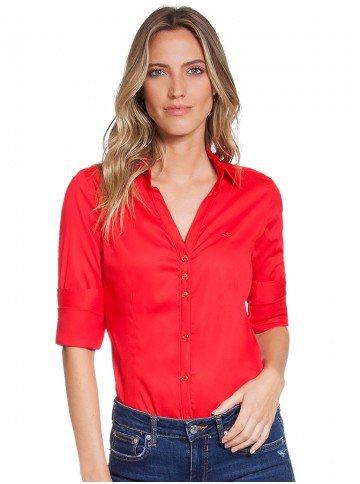 camisa social vermelha principessa klara frente