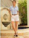 camisa azul estampada principessa afrodite categoria