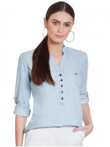 blusa jeans principessa desiree detalhes frente 2