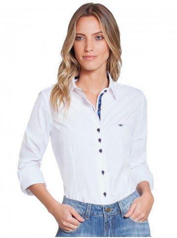 camisa social branca principessa scarlett frente