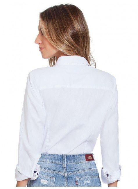 ... camisa social branca principessa scarlett costas ... e2d5c772b93de