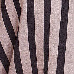 camisa listrada preta nude principessa olana tecido