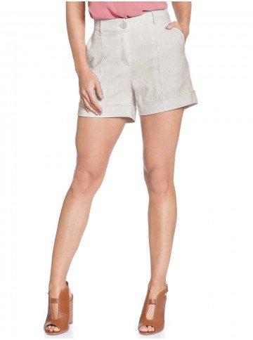 shorts linho principessa rosaura frente