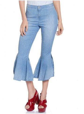 calca jeans super flare denim zero dz8044 frente