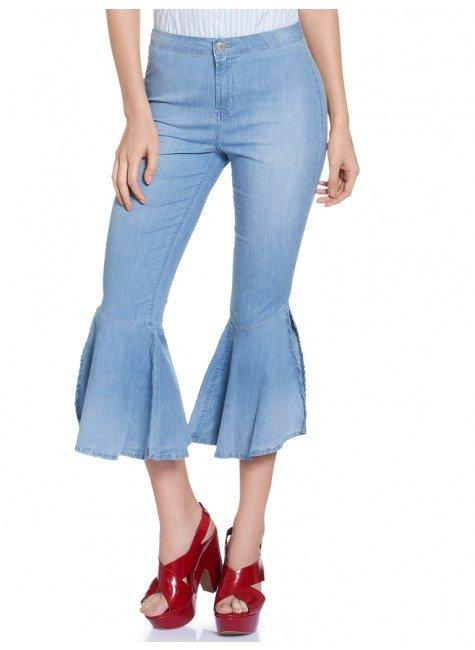 calca jeans super flare denim zero dz8044 frente