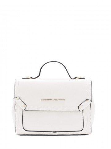 bolsa tiracolo branca pretty leopoldine frente