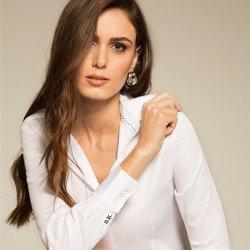 camisa social branca personalizada principessa ava modelo selecionado