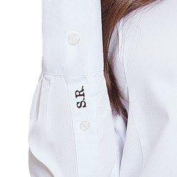 camisa social branca personalizada principessa ava o bordado