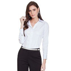 camisa social branca personalizada principessa ava geral