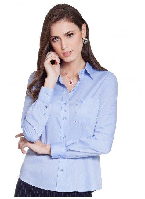 242abd7f177cd ... camisa social azul personalizada principessa isla frente ...