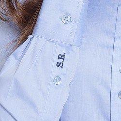 camisa social azul personalizada principessa islabordado