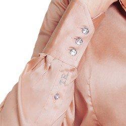 camisa social rose personalizada principessa amber bordado