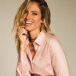 camisa social rose personalizada principessa amber modelo