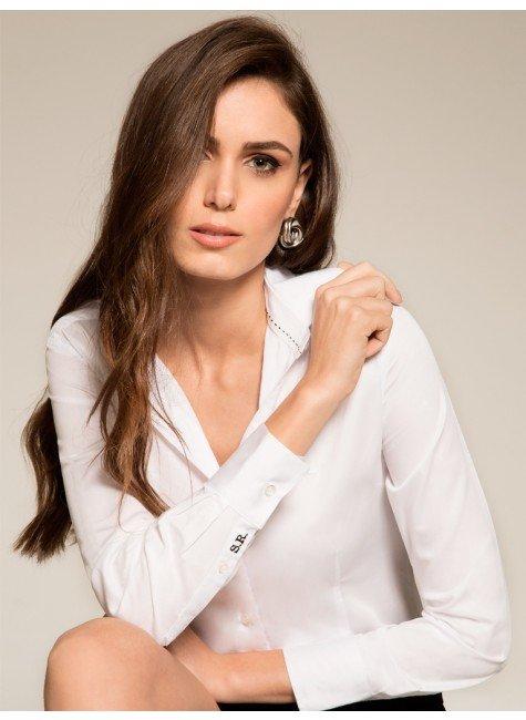 camisa social feminina com monograma principessa personalizada ava