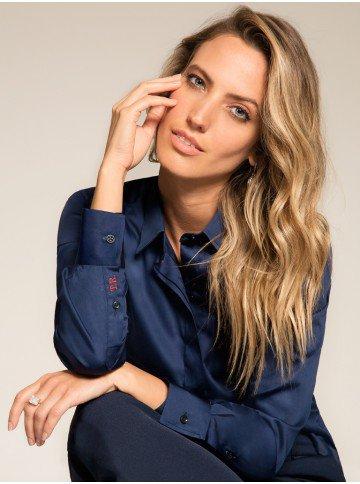 camisa social feminina personalizada marinho principessa Araballa