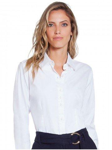 camisa social feminina branco principessa aimee frente