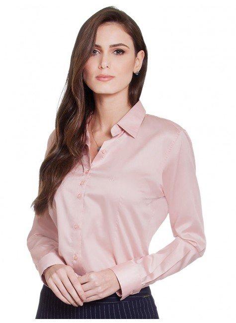 camisa social feminina rose hidry principessa judite frente