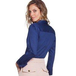 camisa social marinho hidry principessa taci modelagem