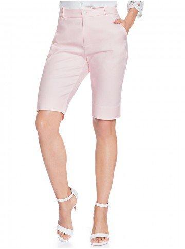 bermuda social feminina rosa principessa carolain frente