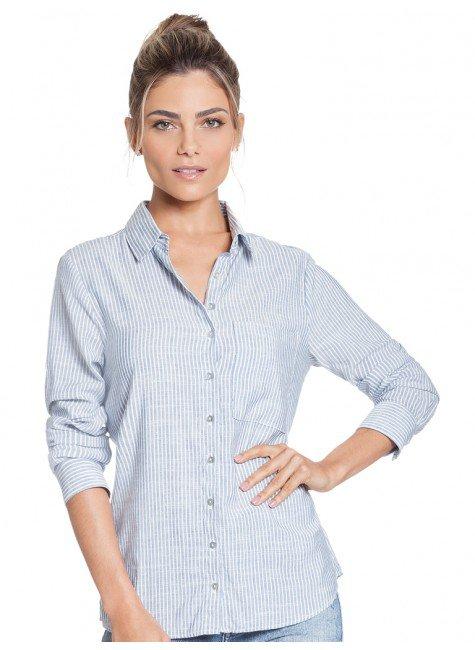 camisa listrada azul principessa lorraine frente