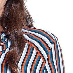 camisa social listrada principessa amelia detalhes