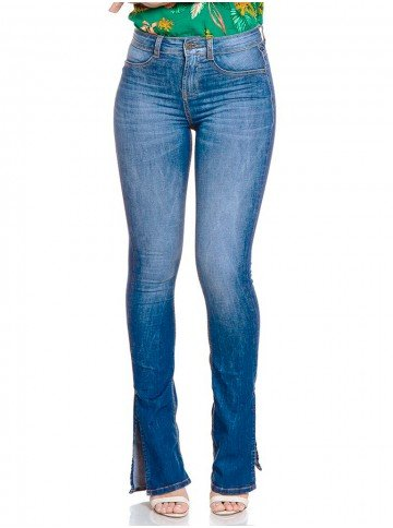 calca jeans boot cut denim zero dz2787 frente