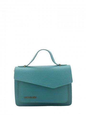bolsa de couro verde leopoldine luma frente