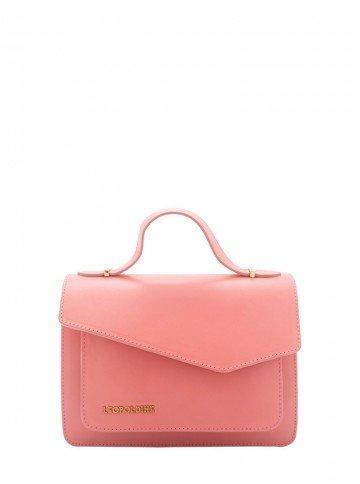 bolsa de couro rosa leopoldine luma frente