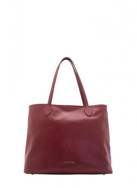 1e7749d34 bolsa sacola de couro vermelha leopoldine juna frente