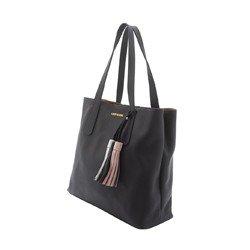 bolsa de couro preta com alca de ombro leopoldine pietra geral