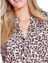 camisa animal print leopardo principessa damiane frente det