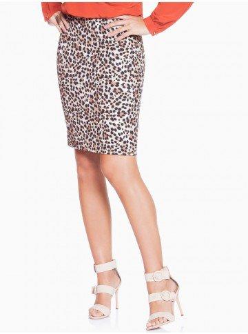 saia animal print leopardo principessa cleide frente