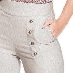 calca pantalona linho principessa neusa detalhes enobrecedores