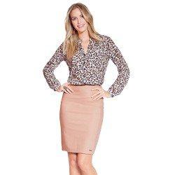 camisa animal print leopardo principessa damiane geral