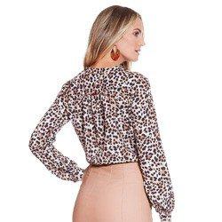 camisa animal print leopardo principessa damiane modelagem