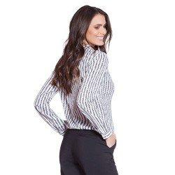 camisa listrada com transpasse principessa maite modelagem