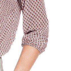 blusa manga 78 estampada principessa giovanna elastico