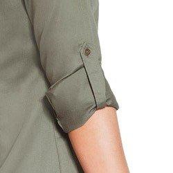 vestido chemise verde militar principessa flavia detalhes
