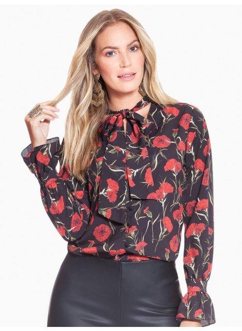 d9fb069409 camisa floral gola laco principessa capitu frente